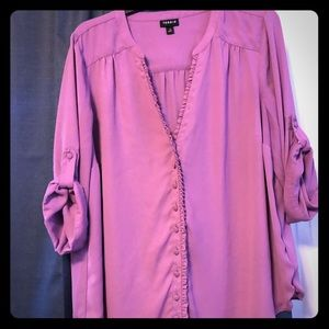Purple 3/4 sleeve torrid blouse